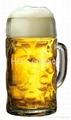 Glass beer stein, 1 liter