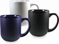 Glossy inside,matte outside mug,16oz