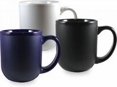 Glossy inside,matte outside mug,16oz