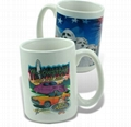photo mug,sublimation coated