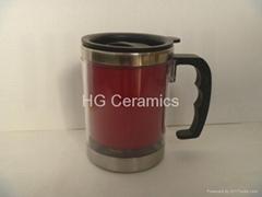 stainless steel  color change mug ,magic mug