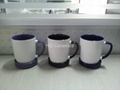 300ml ceramic mug with coaster , mug with lid
