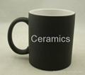 Matte color change mug ,satin finish