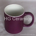 Matte color change mug ,satin finish color change mug