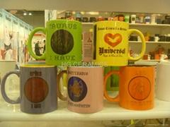 11oz  color mug with sublimation coating