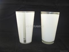 16oz sublimation galss mug with white panel