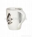procelain mug ,twist handle