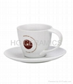 cappuccino cup and saucer, twist handle