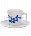 coffee mug with saucer