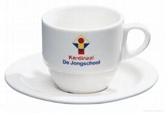 coffee mug with saucer