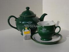 Ceramic teapot , suger, creamer, cup&saucer set