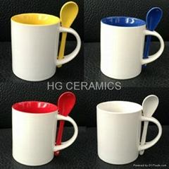 11oz sublimation mug with spoon