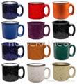 camp mug with speckles
