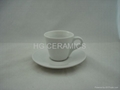 Expresso coffee mug with saucer