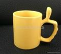 Thumb handle mug .ceramic mug , coffee mug
