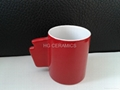 11oz ceramic mug .red mug