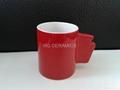 11oz ceramic mug .red mug
