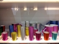 metalic color shot galss mugs