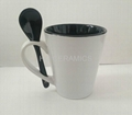 12oz latte mug with spoon