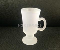 Outside frosted sublimation coated glass mug