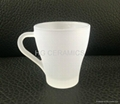 Outside frosted sublimation coated glass mug