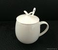 fine bone china mug with lid and spoon