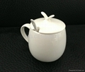 fine bone china mug with lid and spoon