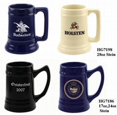 Ceramic beer steins