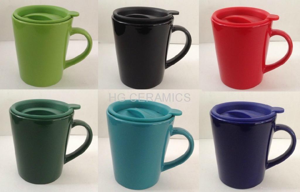 Ceramic Mug With Plastic Lid China Manufacturer Ceramic