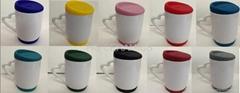 Sublimation mug with silicon lid and bottom