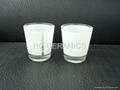 12oz sublimation galss mug with white panel
