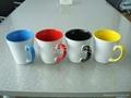 12oz sublimation latte mug, inner & handle color