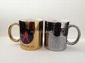 Sublimation gold mug , silver mug