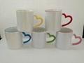 10oz  heart handle mug , inner & handle color