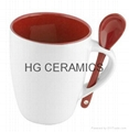 11oz  inner red spoon mug