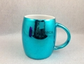 16oz  metallic color mugs,  blue metallic color mug