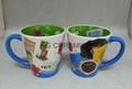 12oz latte mug with inside full printing