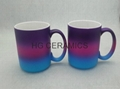 15oz  rainbow color mug,three colors mug
