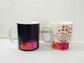 Magic mug , color change mug ,heart design color change mug