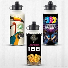 Stainless steel   Water bottle, sublimation coated