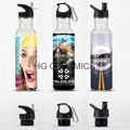 750ml  Stainless steel   Water bottle, sublimation coated