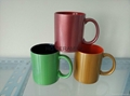 11oz Pearly finished mug ,  Red pearly finished mug , Green pearly finished mug