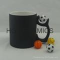 Football color change mug ,matte