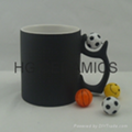Football color change mug ,matte finished .  Football mug