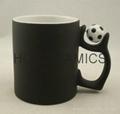 Football color change mug ,matte finished .  Football mug