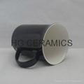 10oz color change bone china mug ,Glossy finished  3
