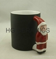 Santa Claus Handle color change mug , Penguin handle color change mug