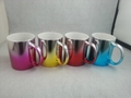 2016 New mug ,11oz colorful metallic mug ,   11oz two color metallic mug