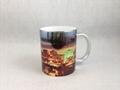 Sublimation siliver color mug , with printing  2