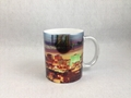 Sublimation siliver color mug , with printing